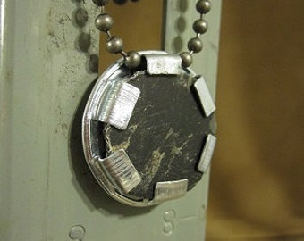 "Neo nightclub dance floor tile urban artifact necklace - contains actual piece of Neo's dance floor on 18"" ball chain"