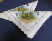 18 Vintage Mid-Century Fruit Bowl Paper Freund Mayer Luncheon Napkins