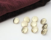 Plastic Gold Buttons