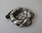 FALLEN LEAF sterling silver ashtray handmade ashtray