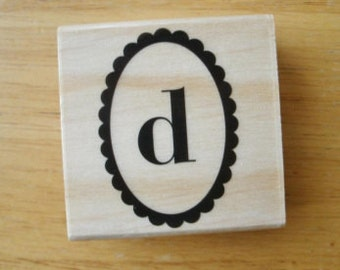 Small Letter d  Rubber Stamp