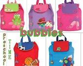 Monogrammed Stephen Joseph Quilted Backpack Toddler Boy Girl Baby Diaper Bag