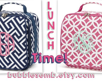 Monogrammed Lunch Boxes Girls Free Personalization