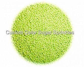 LIME GREEN NONPAREILS Edible Sprinkles Cakepops Cupcake CandyConfetti Decorations 2oz.