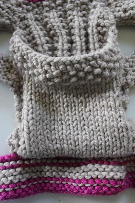 Knitting Pattern For Doll Carrier : KNITTING Pattern- Baby Doll Carrier knitting pattern PDF. DIY instructions fr...
