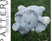 INSTANT DOWNLOAD : Pillow Pal Elephant Crochet Pattern