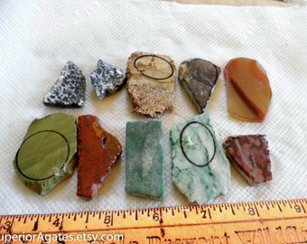 Small 1 Cab Lapidary Slabs And Small Random Cuts #25