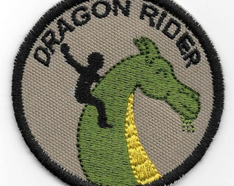 Dragon Rider Geek Merit Badge Patch