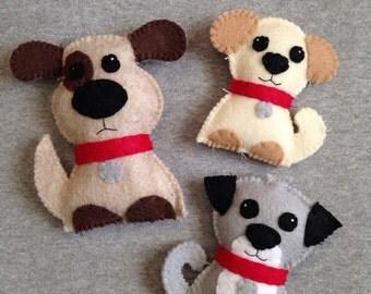 Three Puppies Toy Set