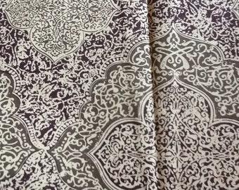 Moroccan Quatrefoil Fabric in Brown Earth Tones Cotton Quilting