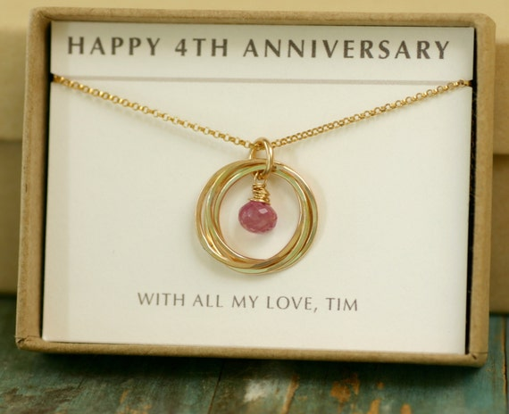 Gifts For 4th Wedding Anniversary: 4th Anniversary Gift 40th Birthday Gift Pink Sapphire