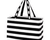 Black Stripe Ultimate Tote - FREE Personalization