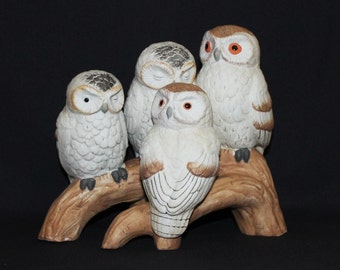Large Owl Figurine - Family of Four Owls  (1250-1)