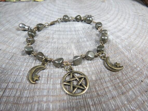 Prosperity Bracelet Pyrite Bracelet for Drawing Abundance