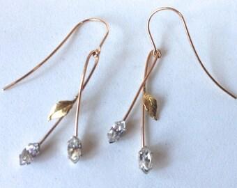 Krementz Pierced Wire Earrings – Vintage 1960s