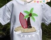 Surfs Up Applique Design Machine Embroidery Design INSTANT DOWNLOAD