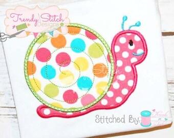 Snail Applique Design Machine Embroidery Design INSTANT DOWNLOAD Slug
