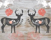 Scandinavian Deer 11 x 14 Art Print