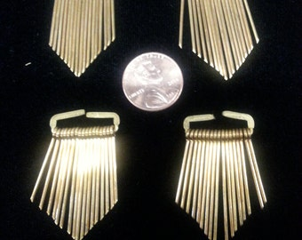 DISCOUNTED 4 vintage brass tassel dangle charms