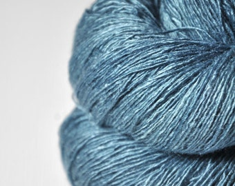 Hazy winter sky - Tussah Silk Lace Yarn