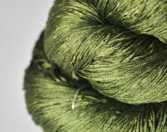 I know what happened to the olive - Silk Lace Yarn - knotty skein