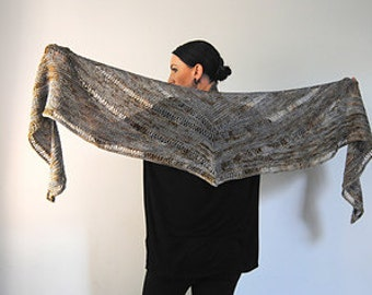 AGLEAM shawl knitting pattern PDF