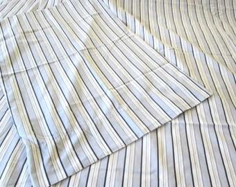 Queen Flat Sheet, Standard Pillowcase, Blue Stripes by Westpoint Stevens