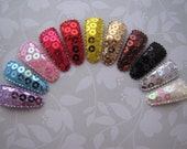 Sequin Sparkles . baby snap clip set . toddler hair accessory . lavender blue pink red yellow gold brown black white silver