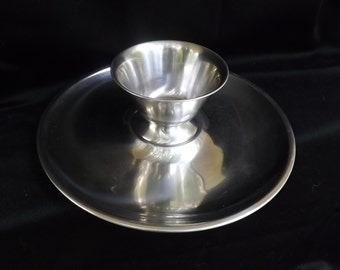 Vintage Danish Stainless Steel Serving Tray and Bowl