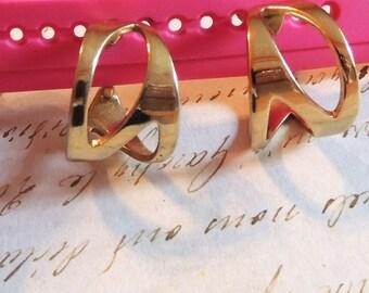 Napier Earrings Adjustable Clip On Abstract Hoop Earrings Vintage Jewelry,