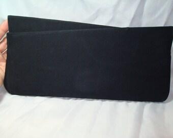 1950s 1960s Virginia Art Black Large Clutch.