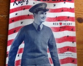 1941 Knit for Self Defense Chadwick's red Heart Wools Book no 172 old pattern booklet