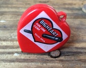 Vintage Tape Measure Petroliana Advertising Red Bigheart Pipe Line Heart