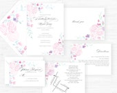 The Olivia Collection | Hand-Painted Watercolor Wedding Invitations - Sample