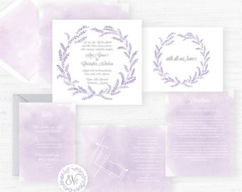 The Ava Grace Collection | Sample Wedding Invitation | Hand-Painted Watercolor Wedding Invitations
