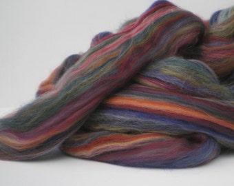 "Ashland Bay Multi Colored Merino for Spinning or Felting ""Granada""  4 oz."