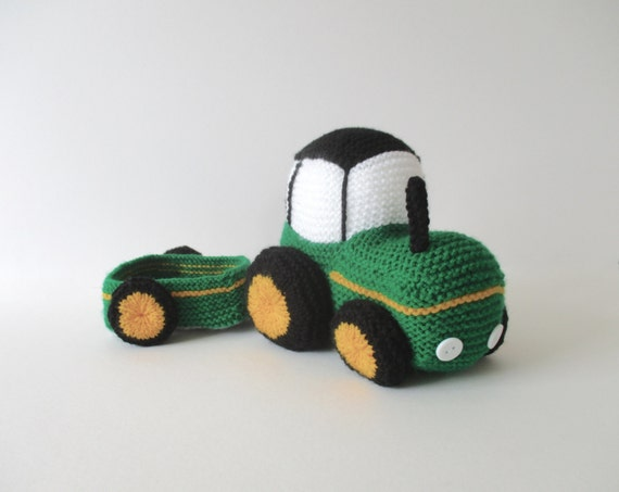 Knitting Pattern With Tractor Motif : Tractor toy knitting pattern by fluffandfuzz on Etsy