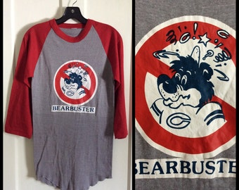 Vintage Chicago Bears Bear Buster Football Team Sports t-shirt looks size S