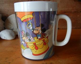 Disneyland Thermo Serv Coffee or Tea Mug Walt Disney Productions Mickey Mouse Tinkerbell and The Magic Kingdom