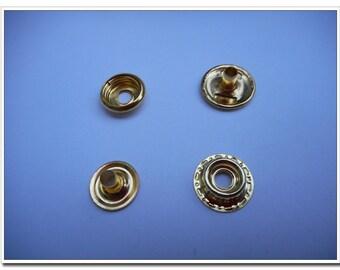 40 sets golden 15mm snap button Snap Fastener
