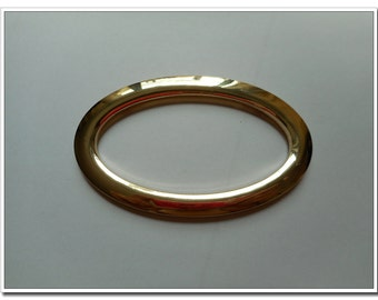 a pair 3 1/2 inch (Inner diameter) Gold Oval metal purse handle oval cut out bag handle