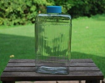 Vintage Vertically Ribbed Owens Illinois Glass One Quart Refrigerator Bottle