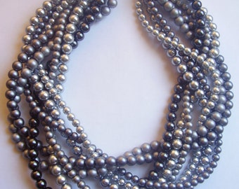 braided pearl necklace  statement pearl necklace twisted pearl necklace custom order necklaces bridesmaid bridal