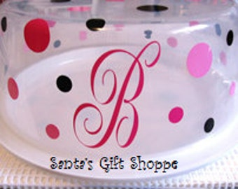 Cake/Cupcake Carrier Vinyl Sticker Decals - Personalized - CARRIER NOT INCLUDED - Mongrammed Initials/Names - Home Decor