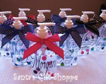 Hand Sanitizer (Personalized) - School Teachers - Easter Gift - ONE  8 oz - Nurse - Students - Kitchen - Bathroom -Valentine's Day-Children