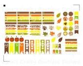 Fall Set Digital File Kit-Stickers for Erin Condren Life Planner