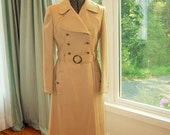 RESERVED for PJ / Vintage 1950's-60's Wool Classic Trench Coat Fitted Lady Detective MadMen Get Smart Agent 99/Abraham&Straus Junior Gallery