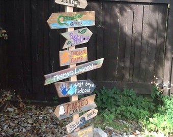 Set of 11 Directional Signs - Neverland Theme