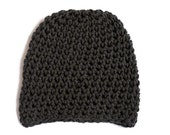 Vegan Hat Charcoal Grey / Blue Beanie