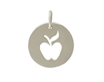 Sterling Silver Apple Charm